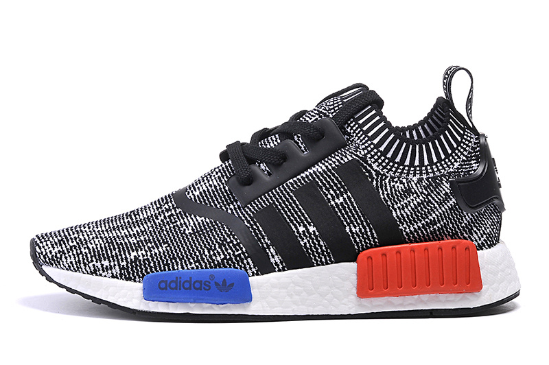 Men's/Women's Adidas Originals NMD High Top Sneaker Black/White/Blue/Red