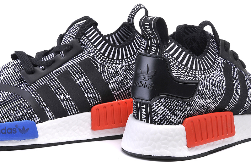 Men\'s/Women\'s Adidas Originals NMD High Top Sneaker Black/White/Blue/Red