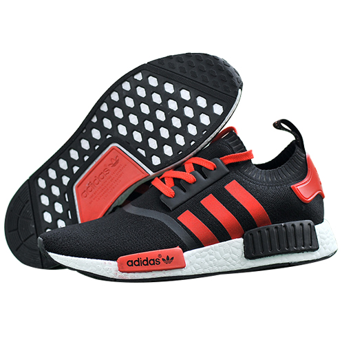 Men\'s/Women\'s Adidas Originals NMD High Top Sneaker Black/Red
