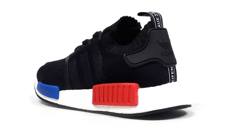 Men\'s Adidas Originals NMD High Top Sneaker Black/White/Blue/Red S79168