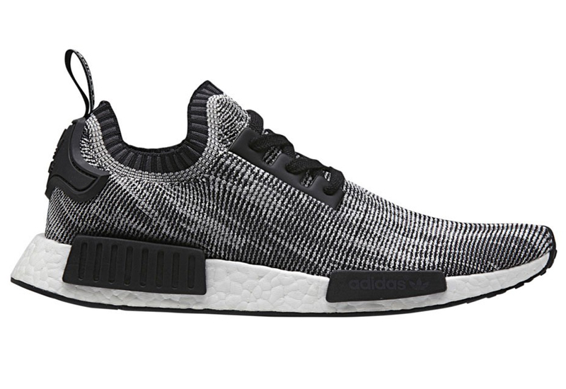 Men's Adidas Originals NMD High Top Sneaker Black/White/Grey S79478
