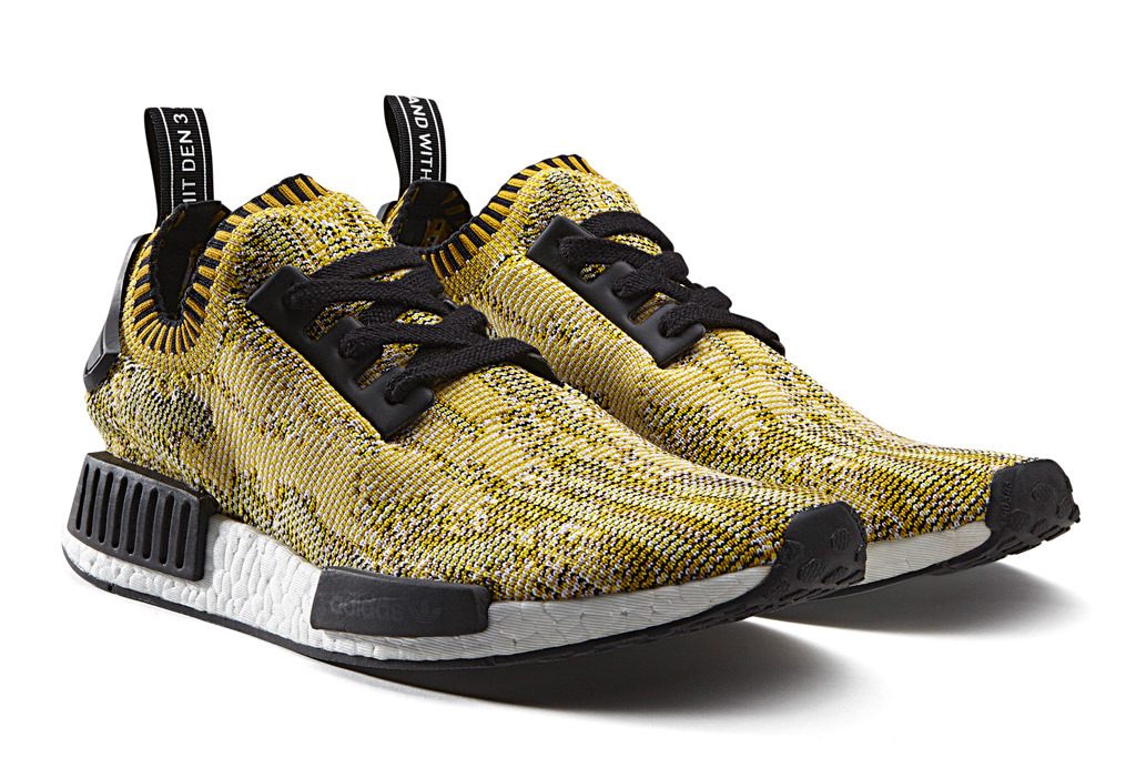 Men\'s Adidas Originals NMD High Top Sneaker Yellow/Black/White S42131