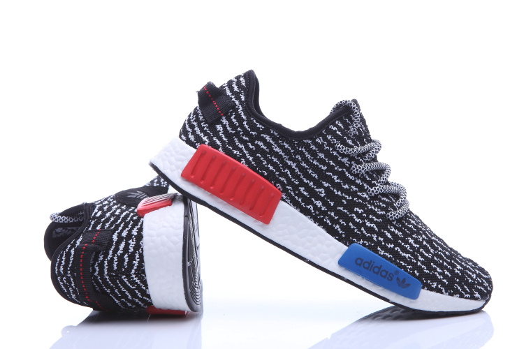 Men\'s Adidas NMD Runner X Yeezy Boost 350 Shoes Black/White