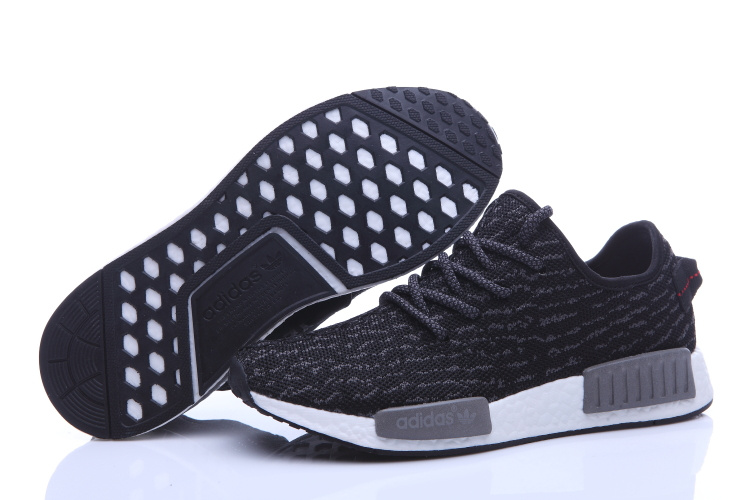 Men's Adidas NMD Runner X Yeezy Boost 350 Shoes Black/Grey