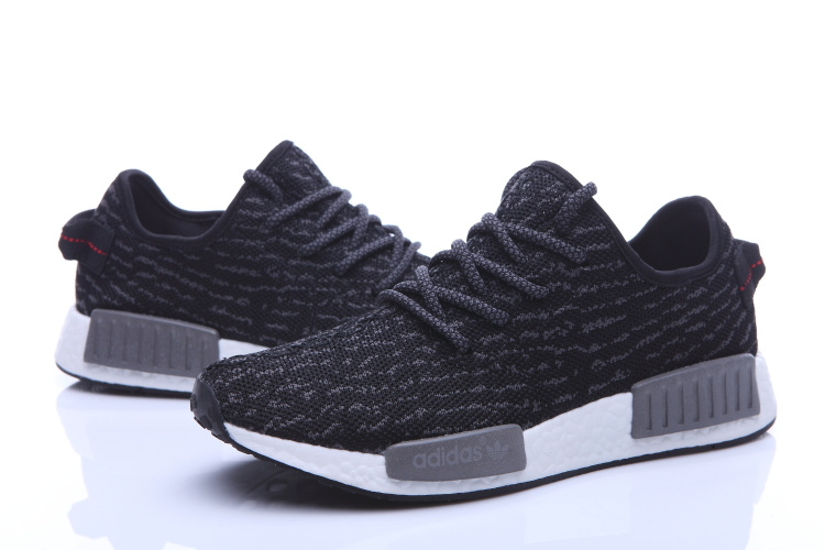 Men\'s Adidas NMD Runner X Yeezy Boost 350 Shoes Black/Grey