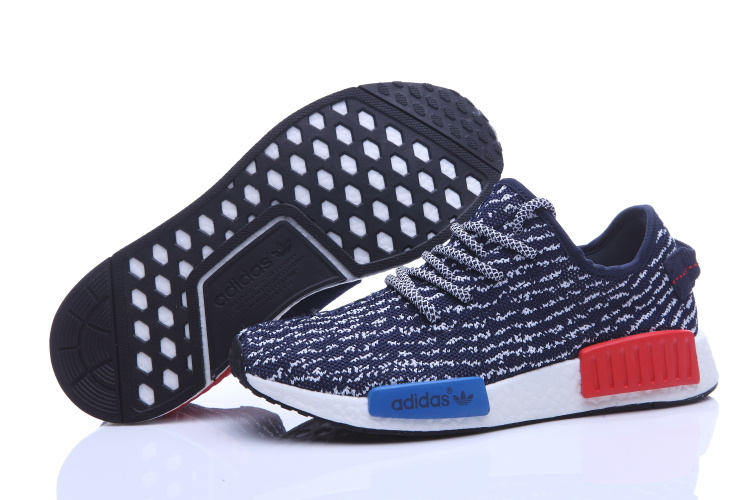 Men's Adidas NMD Runner X Yeezy Boost 350 Shoes Dark Blue