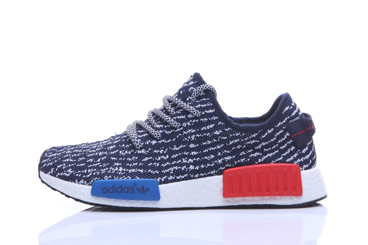Men\'s Adidas NMD Runner X Yeezy Boost 350 Shoes Dark Blue