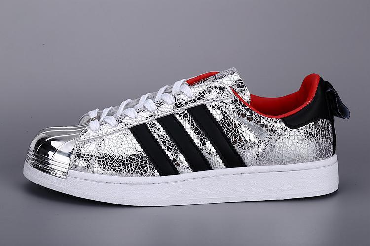 Mens Adidas SUPERSTAR METAL Sliver
