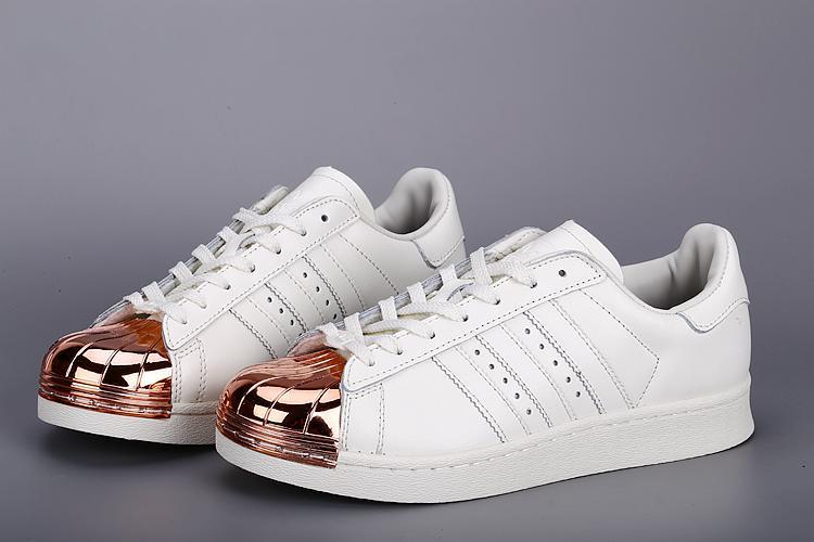 Mens Adidas SUPERSTAR METAL White Golden