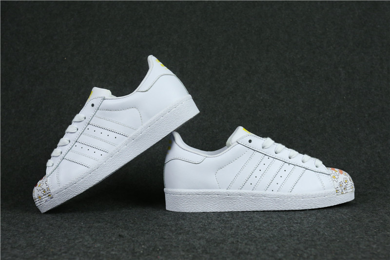 Womes Adidas Superstar 80s Metal Toe Flower