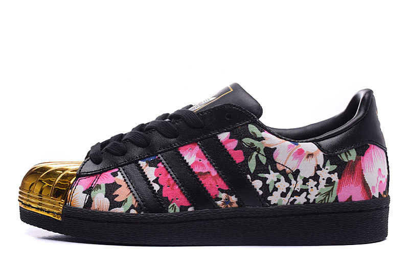 Womes Adidas Superstar 80s Metal Toe Golden Flower