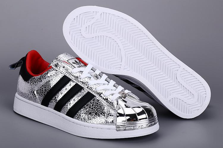 Womes Adidas SUPERSTAR METAL Sliver