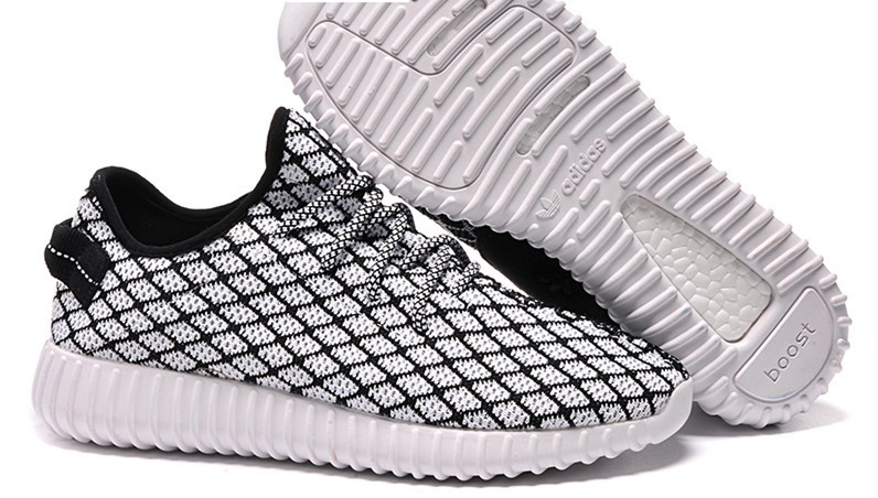 Womens Adidas Yeezy Boost 350 Low Kanye West Black White